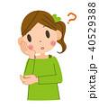 考える 疑問 女性のイラスト 40529388