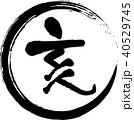 亥 亥年 筆文字のイラスト 40529745