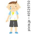 骨折 男の子 子供のイラスト 40529750