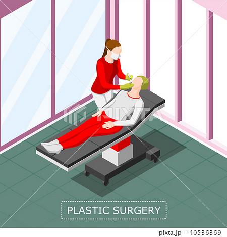 Plastic Surgery Isometric Background 40536369