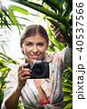 女 女性 ジャングルの写真 40537566