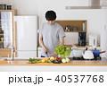 男性 料理 キッチンの写真 40537768
