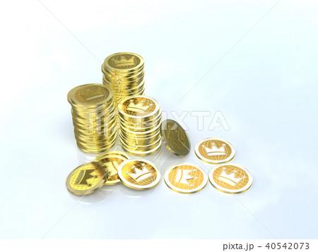 CG イラスト コイン 山積み クラウン 40542073