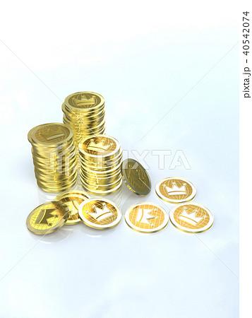 CG イラスト コイン 山積み クラウン 40542074