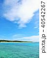 沖縄県 波照間島 爽やかな青空と青い海 40542267