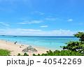 沖縄県 波照間島 爽やかな青空と青い海 40542269