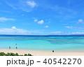 沖縄県 波照間島 爽やかな青空と青い海 40542270