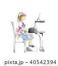 ピアノ発表会、女の子、ズーム 40542394