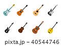 ギター アイコン イコンのイラスト 40544746