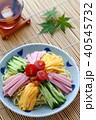 冷やし中華 食べ物 麺料理の写真 40545732