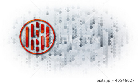 Hush - Coin Illustration on Pixelated Background. 40546627