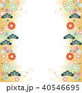 和柄 背景 花のイラスト 40546695
