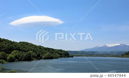 釜房湖の笠雲 40547944