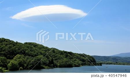 釜房湖の笠雲 40547946