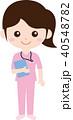 人物 女性 看護師のイラスト 40548782