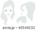 女性の顔 微笑 セット 40549232