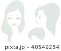 人物 女性 顔のイラスト 40549234