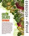 サラダ サラダ ベジタブルのイラスト 40549849