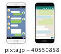 スマートフォン SNS画面セット 40550858