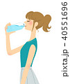 ペットボトルを飲む女性2 40551696