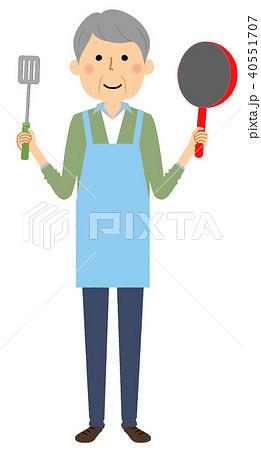 シニア男性 料理 40551707
