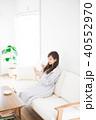 女性 スマホ スマートフォンの写真 40552970