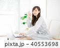 女性 パソコン 在宅ワークの写真 40553698