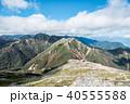 常念岳 山頂 秋の写真 40555588