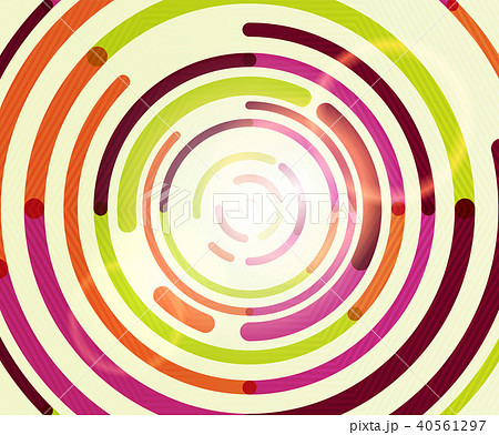 Circular lines, circles, geometric abstract background 40561297