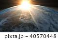 地球 CG 太陽のイラスト 40570448