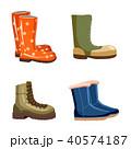 Boots icon set, cartoon style 40574187