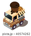 コーヒー ベクトル 車のイラスト 40574262