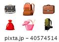 Bag icon set, cartoon style 40574514