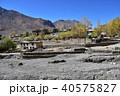インドの山岳地帯 スピティ谷のカザ 中心部の街並み 住居やゲストハウスや僧院 40575827