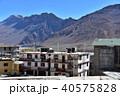 インドの山岳地帯 スピティ谷のカザ 中心部の街並み 住居やゲストハウスや僧院 40575828