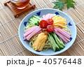 冷やし中華 麺類 麺料理の写真 40576448