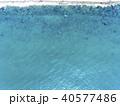 エメラルドグリーンの海(空撮 真俯瞰) 40577486