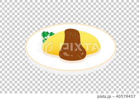 矢量 大米煎蛋 蛋包飯 40579457