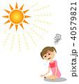 人物 子供 女の子のイラスト 40579821