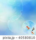 和の背景-和紙-青-金魚 40580810