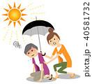 シニア 女性 熱中症のイラスト 40581732