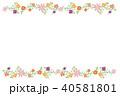 花 枠 飾り枠のイラスト 40581801