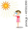女の子 水分補給 40581990