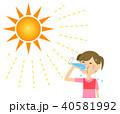 女の子 水分補給 40581992