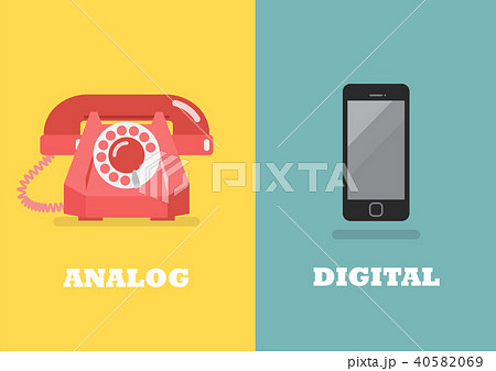 phone in Analog Age and phone in Digital Age 40582069