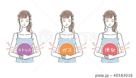 女性の腹痛3点セット 40583016