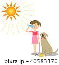 女の子 水分補給 熱中症対策のイラスト 40583370