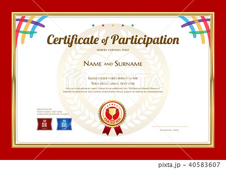 certificate template in basketball sport themeのイラスト素材