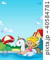 少女 浮く 浮かぶのイラスト 40584781