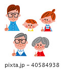 家族 三世代家族 指差しのイラスト 40584938